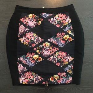 Ted Baker floral pencil skirt